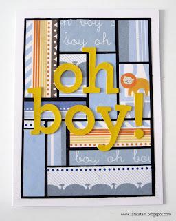 כרטיס ברכה בסגנון מגירת דפוס printer's tray style card