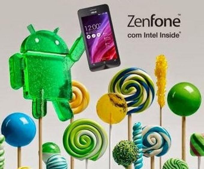 Asus Zenfone Telefonlara Android 5 Lollipop Güncellemesi Geliyor