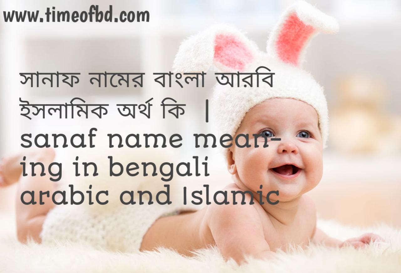 সানাফ নামের অর্থ কী, সানাফ নামের বাংলা অর্থ কি, সানাফ নামের ইসলামিক অর্থ কি, sanaf name meaning in bengali