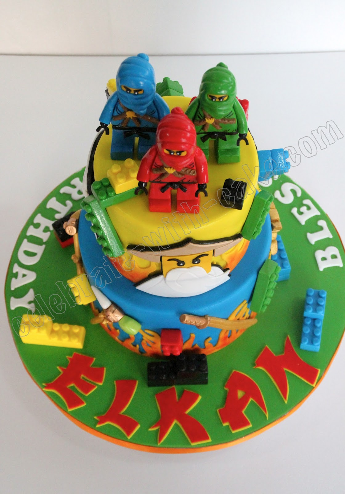 Ninjago 2 Tier Cake