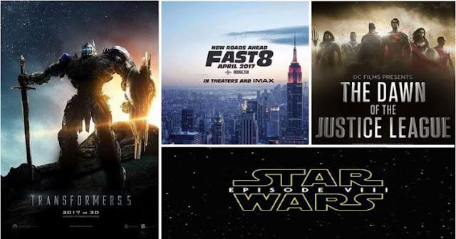 50 Film terbaru yang akan Hadir di tahun 2017, yang mana Film Faforitmu !!!