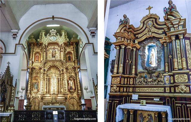 Altares recobertos de ouro na Igreja de São José, no Casco Viejo da Cidade do Panamá