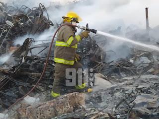 Sistema 9-1-1 informa fue extinguido el incendio en Brisas del Este