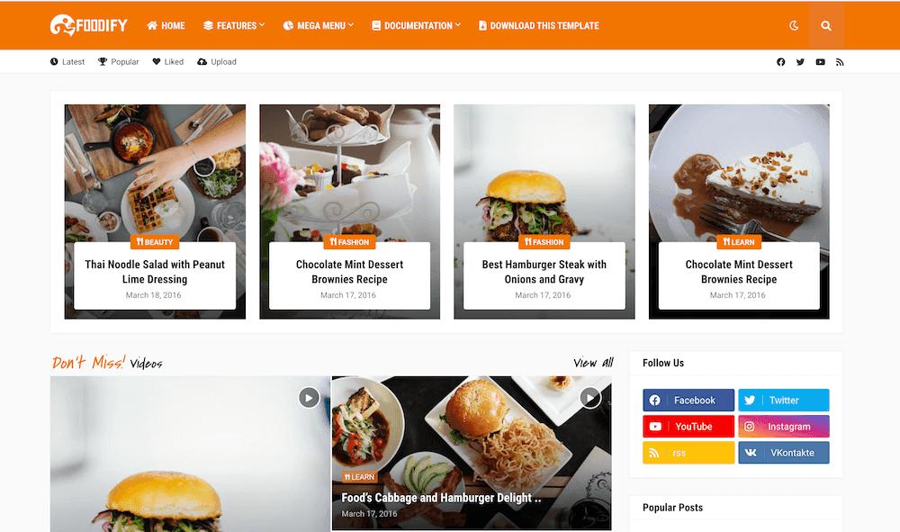 Foodify v1.0 - Responsive Food Blogger Template