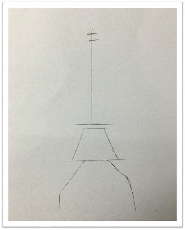 Paris Eiffel Tower Drawing