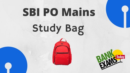 sbi po mains study bag