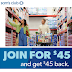 HOT Sam's Club Membership Sale! Buy a Membership for $45 and Get $45 Back To Spend at Sam's Club. Effectively Like Getting The Membership for Free!