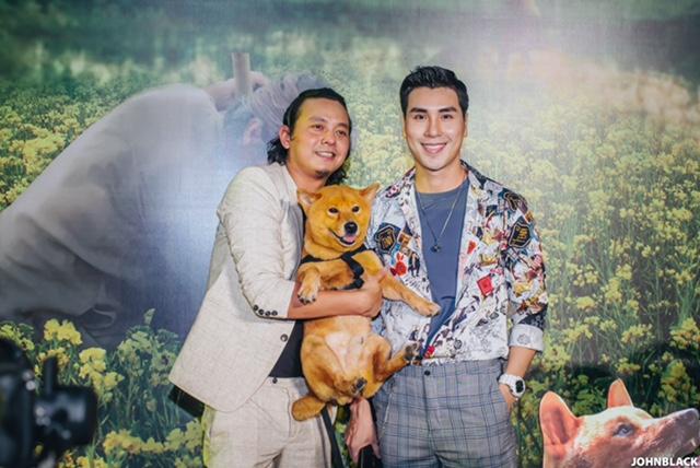 Diễn viên Hoàng Phi Kha đến mừng đạo diễn Trần Vũ Thuỷ ra mắt phim Cậu Vàng