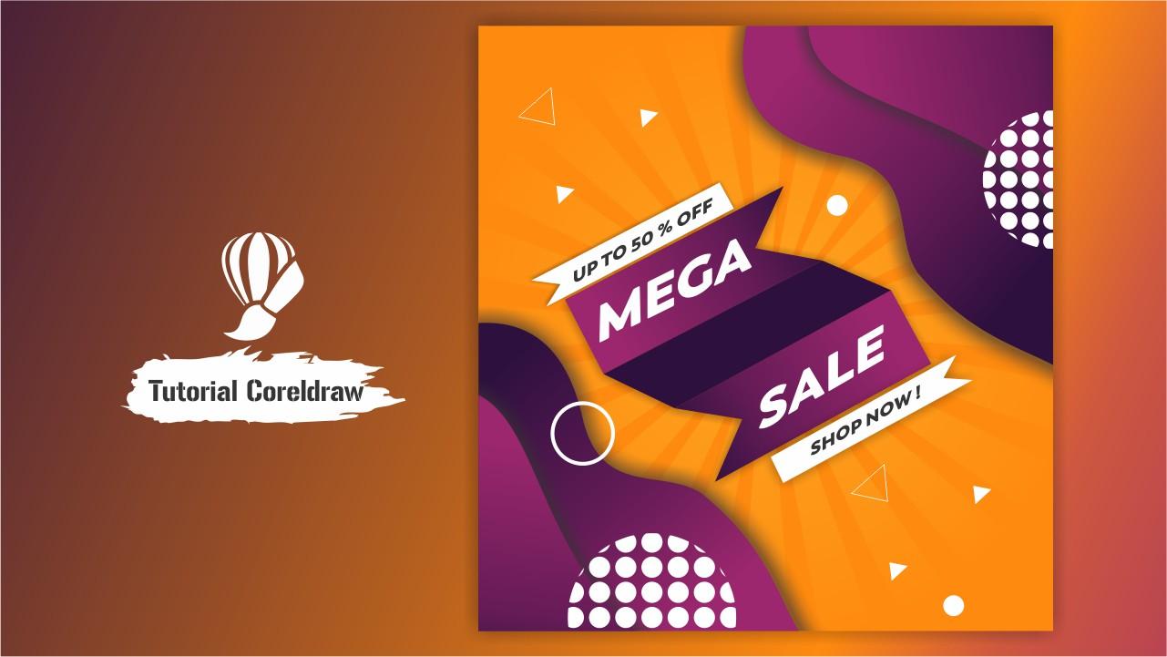 Pembuatan Flyer Sale Sosmed di Coreldraw