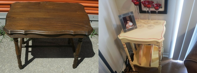 Meg-made Creations: How To Paint Old Wood Furniture Modern