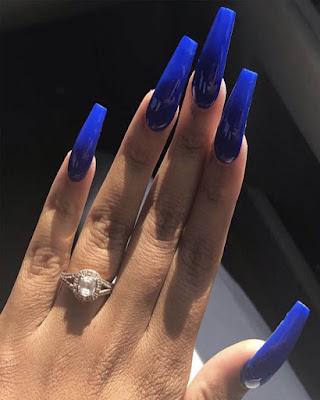 ideas coffin nails long blue desings