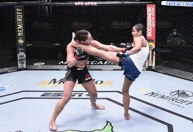 Cynthia Calvillo Kicks Jessica Eye UFC On ESPN 10