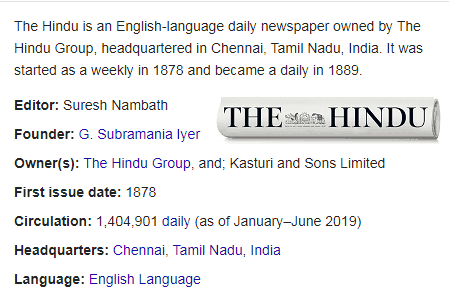 Today The Hindu Newspaper PDF Free Download 2020 by sarkarigoal