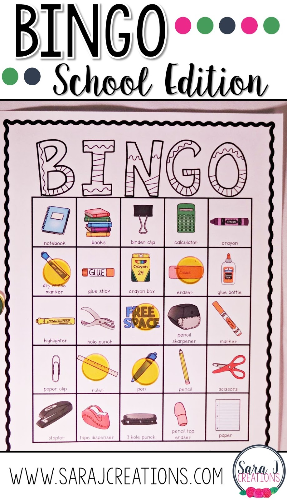 Back to school bingo is a perfect activity for the first week of school. A great way to break the ice and get familiar with common school supplies and where they are located in the classroom.