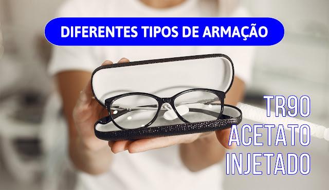 Diferentes tipos de armações de Óculos