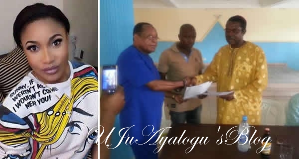 Watch Video: Tonto Dikeh's Father Returns Bride Price To Her Estranged Husband, Olakunle Churchill