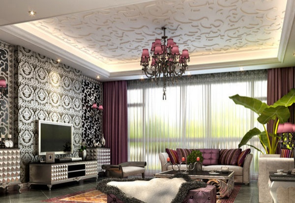 European style living room model free 3ds max