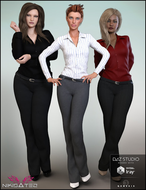 9 To 5 Outfit for Genesis 3 Female