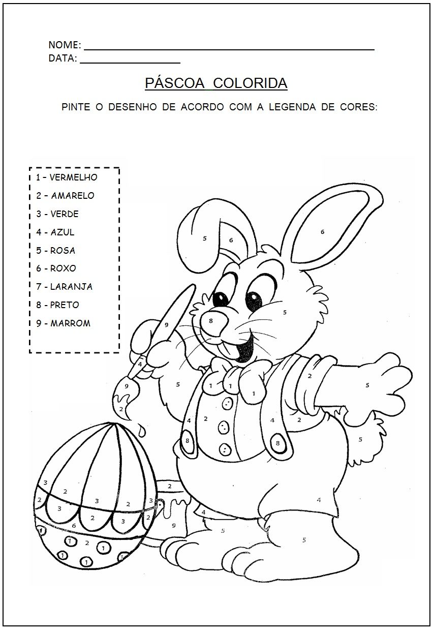 Atividades de Alfabetização: Atividades de Páscoa