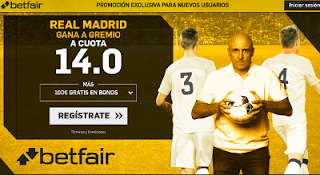 betfair supercuota Real Madrid gana a Gremio 16 diciembre