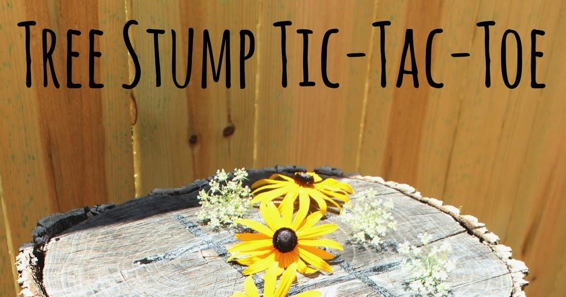 Nearly Handmade Tree Stump TicTacToe