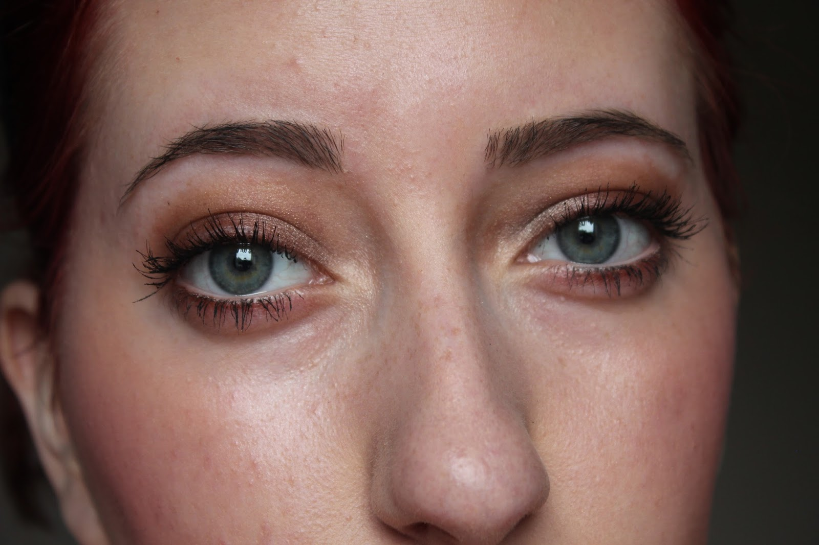 fa19a4ea91f Applied on the lid and on lower outer corner then MUA Heaven and earth  shadows on outer and inner corner with YSL Shocking Mascara.