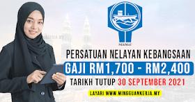 Jawatan Kosong Persatuan Nelayan Kebangsaan (NEKMAT) ~ Gaji RM1,700 - RM2,400 / Mohon Sebelum 30 September 2021