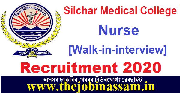 Silchar Medical College Recruitment 2020: Nurse [Walk-in-interview]
