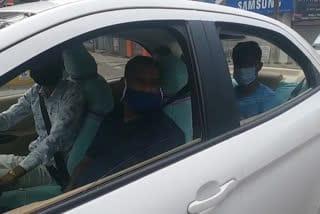 big-car-honer-thretain-police-jamshedpur