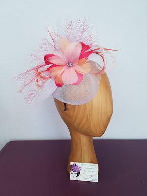 """Modèle """"Jeanne"""" fleur de plumes @patouchechapeaux"""