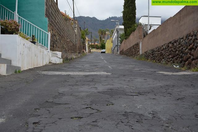 El Cabildo financia los trabajos de repavimentado del Camino La Caldera en Los Llanos de Aridane