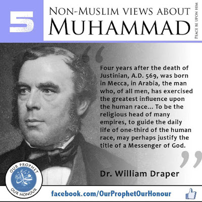 Dr. William Draper view about Prophet Muhammad (PBUH) by Ummat-e-Nabi.com