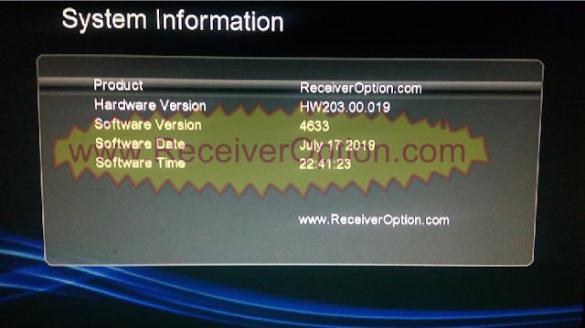 GX6605S HW203.00.019 TEN SPORTS & SERVER OPTION OK NEW SOFTWARE