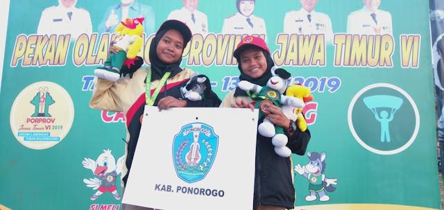 Atlet Termuda Cabor Paralayang Porprov VI Jatim Putri Anggota Kodim 0802/Ponorogo Raih Medali Perunggu