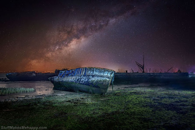 Old boat and the Milky Way. (Photo by David Jenner / Sea View Photography Competition 2020)