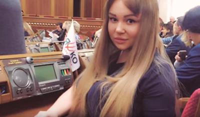نائبة في البرلمان الأوكراني تثير ضجة جنسية