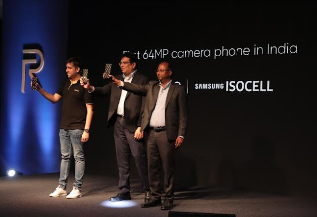 """Leap to quad camera"": realme revealed its first 64MP quad camera phone by giving World's first hands-on experience"