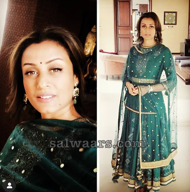 Namrata Shirodkar Green Anarkali