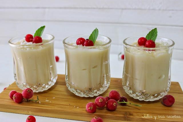 Crema de coco. Julia y sus recetas