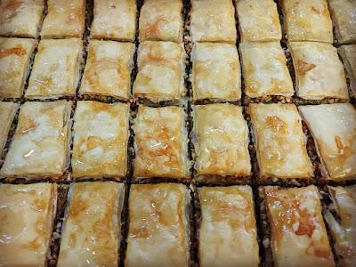 baklava dessert from Bersian restaurant