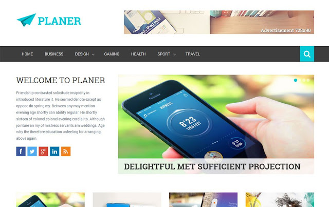 Template Planer Responsive