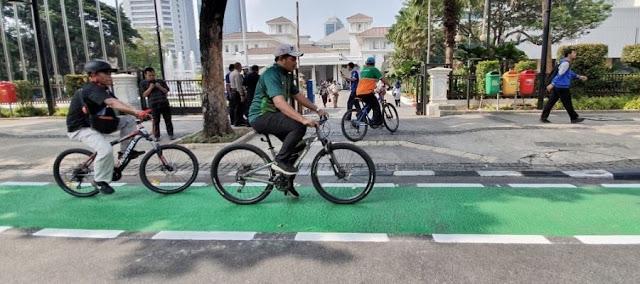Dishub DKI Jakarta Buka Jalur Sepeda di 10 Lokasi