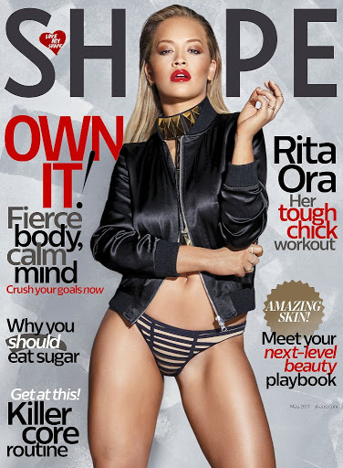 Rita Ora photoshoot Shape Magazine May 2017 cover issue