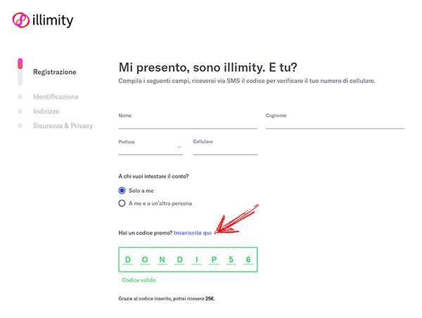 Illimity: conto smart gratuito che regala 25€ + 25€ per ogni invitato Codice%2Bpromo%2Billimity
