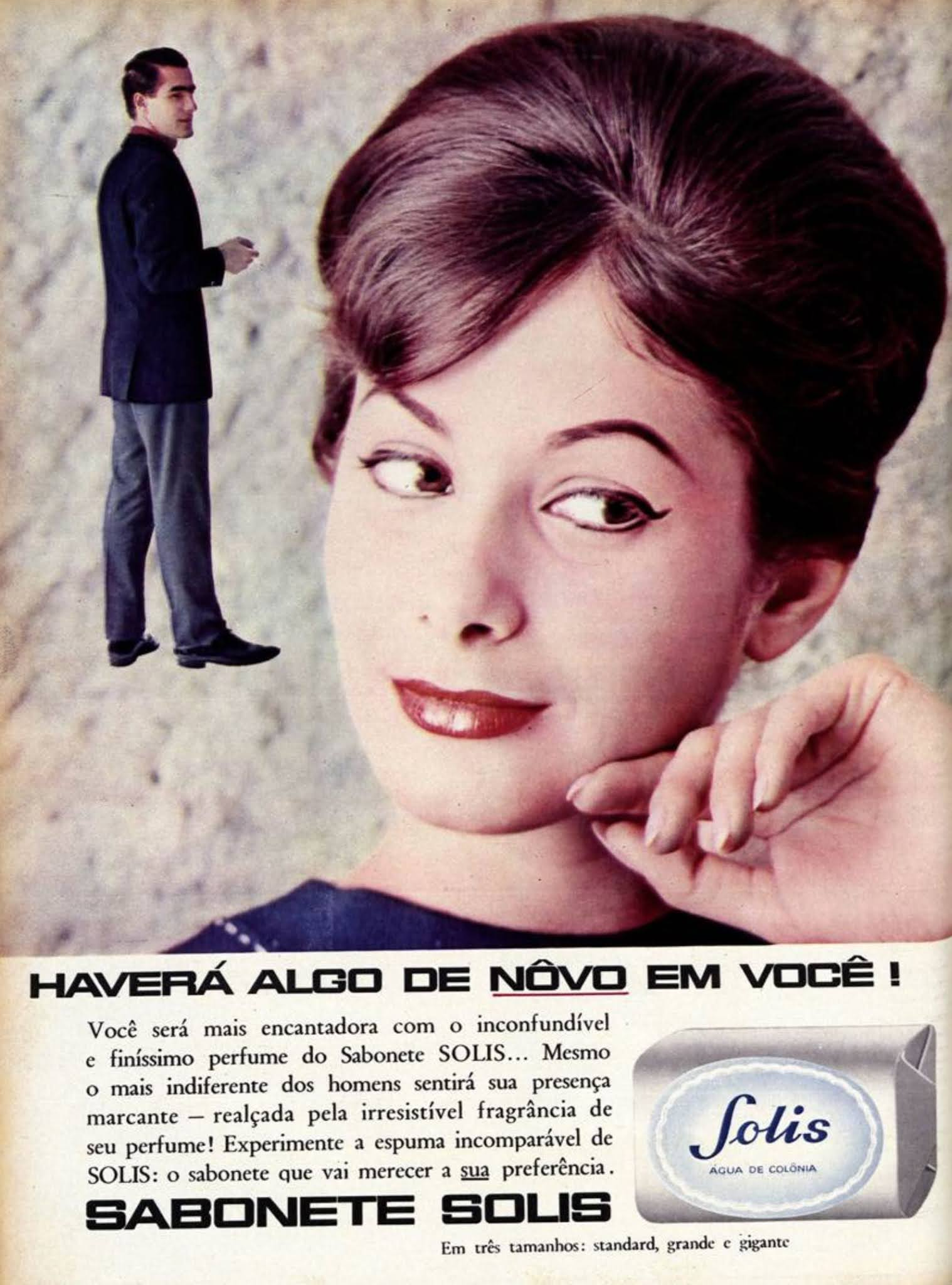 Anúncio antigo de 1962 promovia o Sabonete Solis junto ao público feminino
