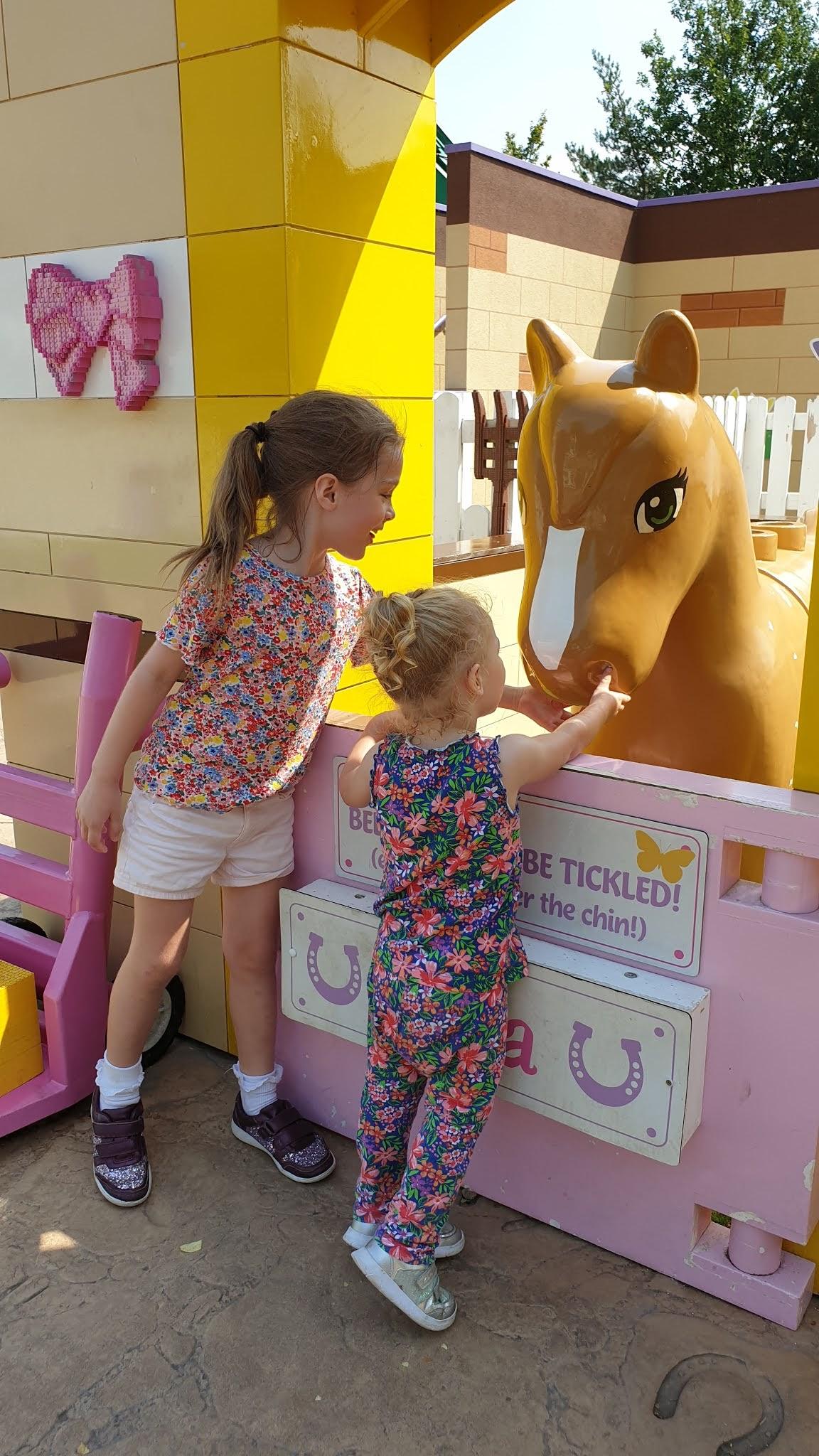 petting mias horse legoland