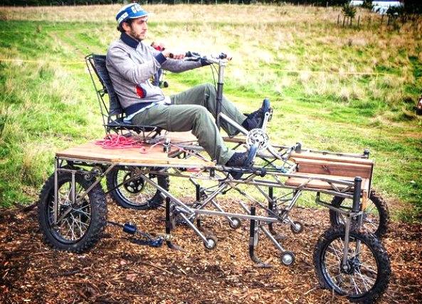 Bicitractor un tractor a pedales para cultivos