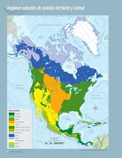 Apoyo Primaria Atlas de Geografía del Mundo 5to. Grado Capítulo 2 Lección 4 Regiones Naturales de América del Norte y Central