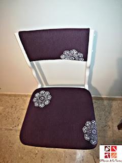 como pintar y tapizar una silla