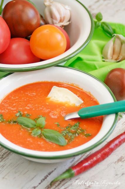 błyskawiczne danie, zupa, zupy na lato, szybki obiad, niebieski ser pleśniowy, daylicooking, Małgorzata Kijowska